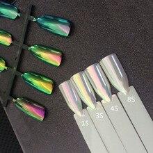 Yükseltme sürümü Aurora Neon Pigment Mermaid bukalemun tozu inci net etkisi Unicorn krom tırnak gökkuşağı Nail Art manikür