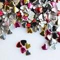 1000 pcs cores misturadas Punk Rivet coração metálico Studs strass moda 3d decorações Nail Art DIY acessórios unhas ferramentas C218