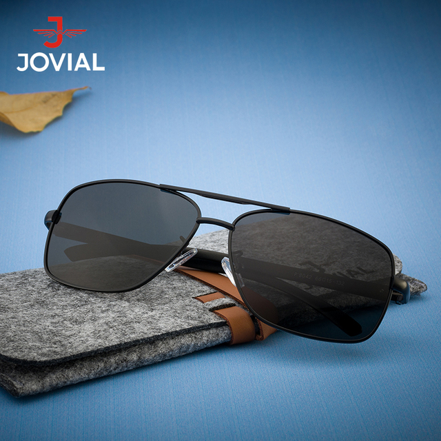 acdafb4327 JOVIAL 2018 New Arrival Square Men Pilot Sunglasses Polarized Lens Driving  Sun Glasses High Quality Outdoor
