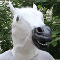 Cosplay Máscara Do Disfarce Máscara de Cavalo Engraçado mens Tampas De Látex Decorações Engraçado Máscara de Dança Trajes Para O Dia Das Bruxas Crianças/Adultos