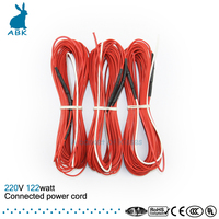 F12K 12meters 122w 33ohm Carbon Fiber Heating Wire PTFE Teflon Connected Power Cord Heating Wire Heating