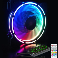 ir led Adjustable Computer Case PC Cooling Fan RGB Adjust LED 120mm Quiet + IR Remote New computer Cooler Cooling RGB Case Fan CPU (3)
