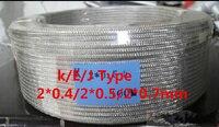 20 متر k نوع الدرع THERMO-COUPLE الموصلات الأسلاك الحرارية سلك 2*0.5 ملليمتر تعويض الجلد الخارجي المقاوم للصدأ ل استشعار