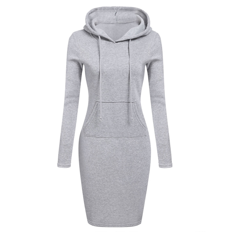 Women Pockets Pullover Svitshot 2018 Casual Hoodies Women Bts Tracksuit Hoodies Sweatshirt Female Slim Hoody Dress