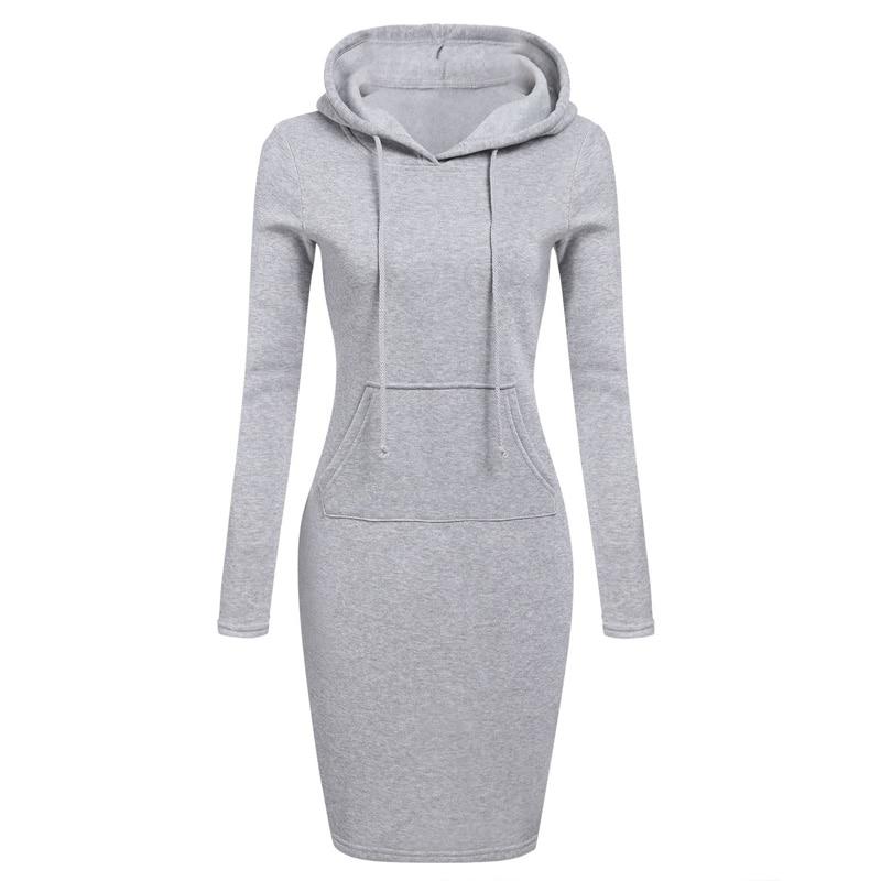 Women Pockets Pullover Svitshot 2018 Casual Hoodies Women Bts Tracksuit Hoodies Sweatshirt Female Slim Hoody Dress