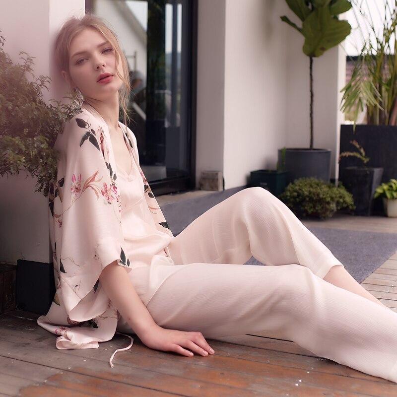 Elegant Dressing Gown Pajamas Suit Ladies Sleepwear Women Fashion Morning Gown Wedding Robe 3pcs Set