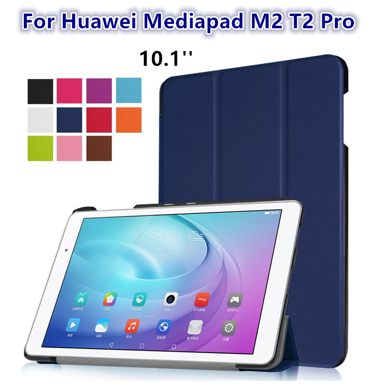 T2 Pro flip cover case For Huawei Mediapad T2 10.0 pro case folding stand Fundas protective skin shell MediaPad T2 Pro 10.1 inch g case executive чехол для huawei mediapad t2 10 pro black