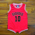 Anime Slam Dunk Cosplay Costume Sakuragi Hanamichi SHOHOKU No 10 Newborn Baby Clothes Infant One Piece Jumpsuits Jersey New