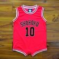 Anime Slam Dunk Cosplay Costume Sakuragi Hanamichi SHOHOKU No 10 Newborn Baby Clothes Infant One Piece Jumpsuits Jersey New