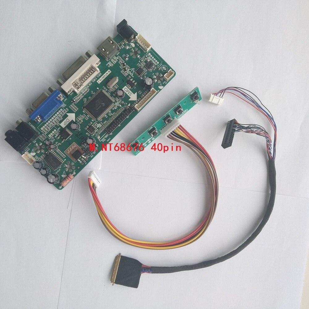 "Kit For B133XW03 V0 40pin LVDS HDMI VGA DVI Panel LED LCD 13.3"" Controller board Screen Monitor Audio card DIY 1366X768"