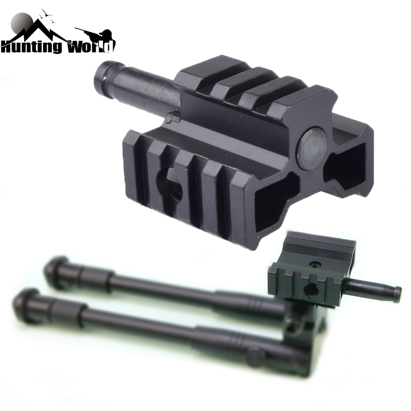 Tactical Tri-Rail Bipod Mount Adaptor Connector For Airsoft Warrior MB01/L96 Sniper Rifle Hunting Caza