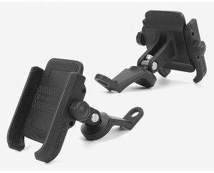 Image 4 - Haute qualité robuste en alliage daluminium rétroviseur Support de téléphone pour Moto Moto Support de Support Support pour iPhone12 GPS