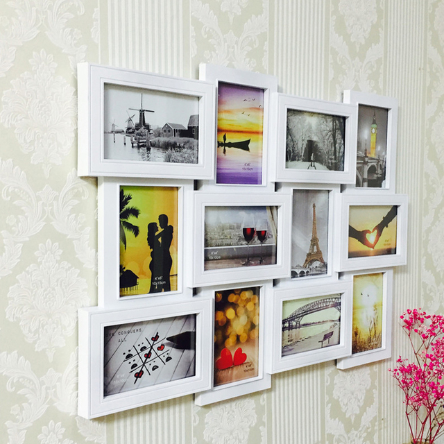12Pcs/Set Plastic Photo Frame Wall Photo Multi pictures Frame ...