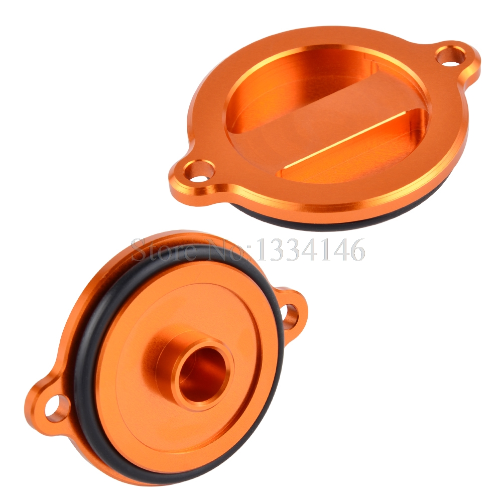 NICECNC Engine Oil Filter Cover Cap For KTM RC 125 200 390 Duke 690 LC4 R SMC Enduro 1050 1190 Adventure RC8 450 SXF 500 EXC for ktm logo 125 200 390 690 duke rc 200 390 motorcycle accessories cnc engine oil filter cover cap