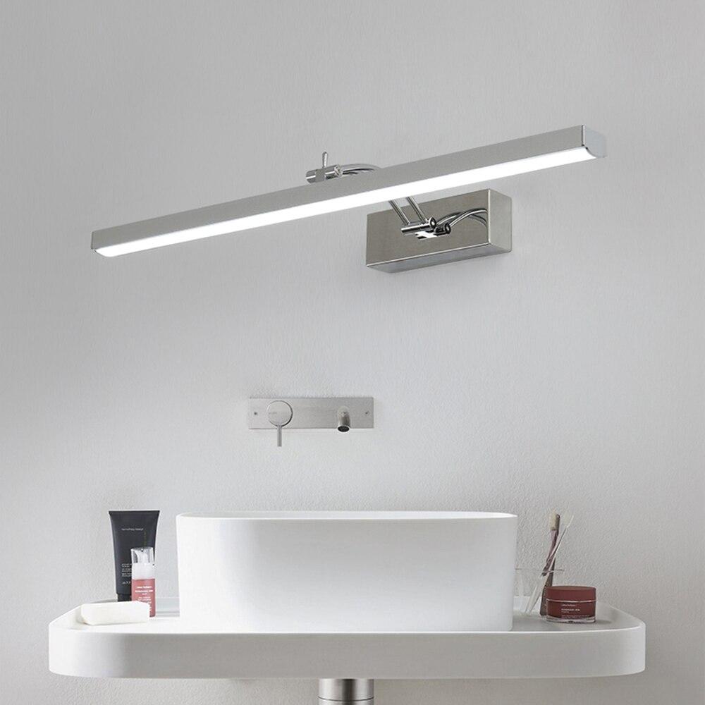 IYoee salle de bains mur LED lampes vanité miroir lumières salle de bains en aluminium applique murale washroon applique luminaires IC Driver 110/220 V
