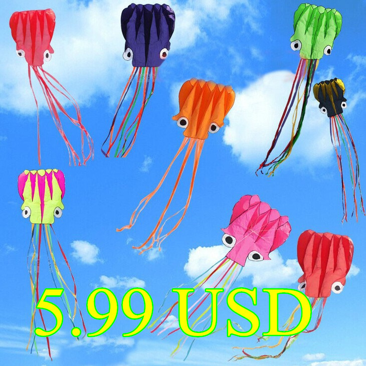 New Hi Q Hotsell 4 m Octopus Single Line Stunt Software Power Kite With Flying Tools