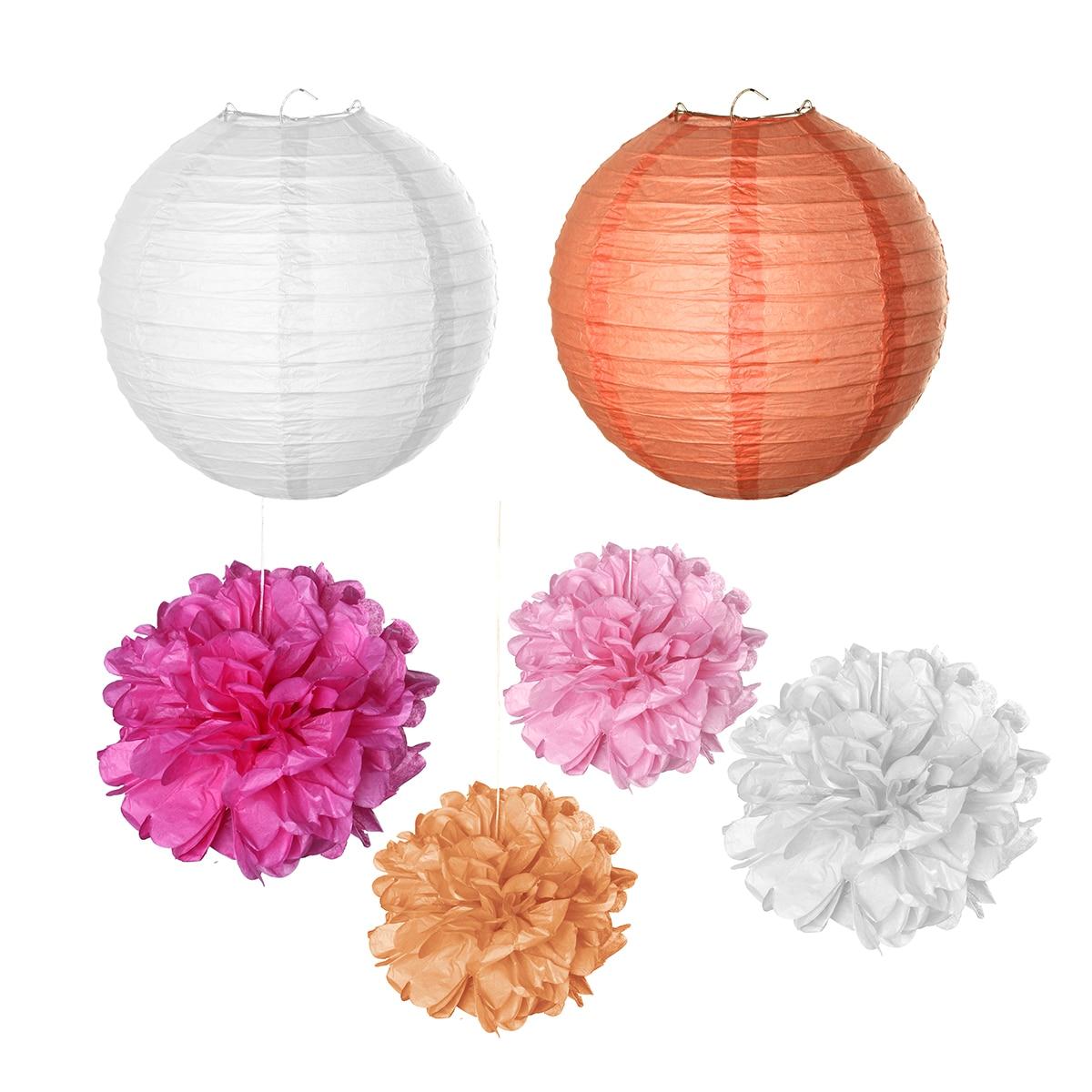 10pcs 8inch 20cm Honeycomb Balls Decorative Paper Lantern Balls baby ...