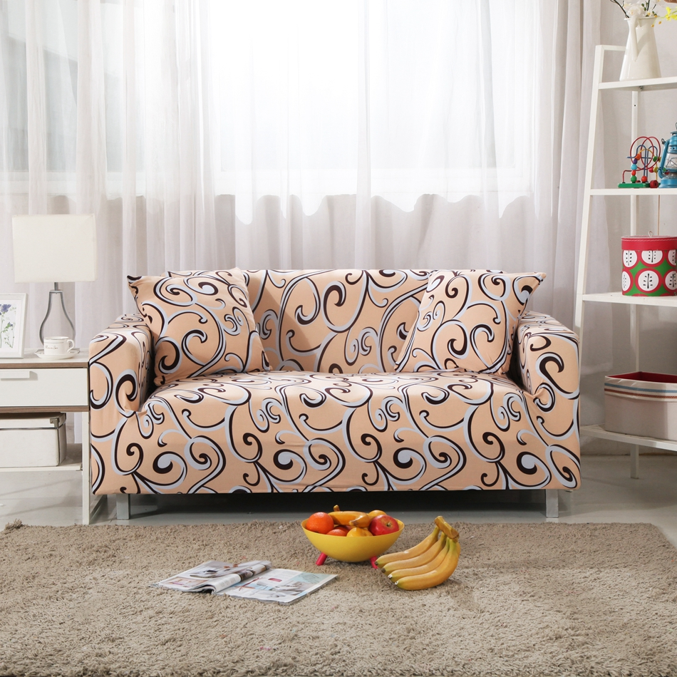 Polyester Sofa Cover Decorative Patterns Slipcover with