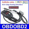 Цена завода ECU Flasher Galletto 1260 Чип ECU Тюнинг Интерфейса OBDII Galletto EOBD-1260 Программист Прочитанными & Написать 'ы ECU