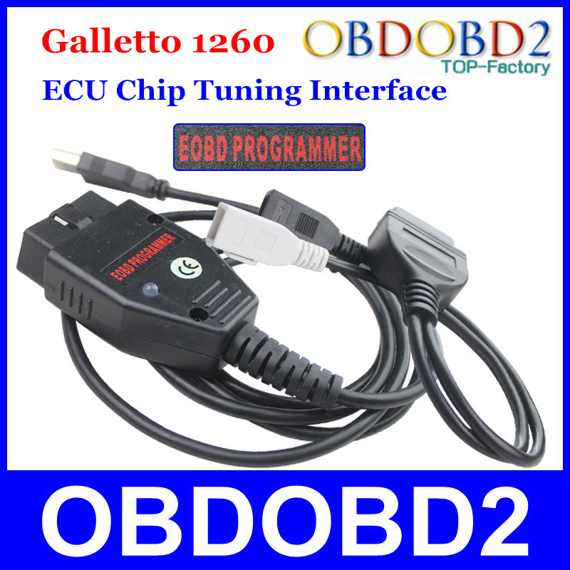 Factory Price Galletto 1260 ECU Chip Tuning Interface OBDII Galletto ECU Flasher EOBD 1260 Programmer By