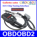 Preço de fábrica Galletto 1260 ECU Tuning Chip Interface OBDII Programador ECU Flasher Galletto EOBD-1260 Por Ler & Escrever do Carro ECU