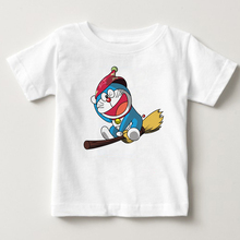 Childrens Japan Anime T-shirt 2018 New Doraemon T Shirt Summer Short Sleeve Boy And Girl Shirts Tops 2-13 ord  MJ
