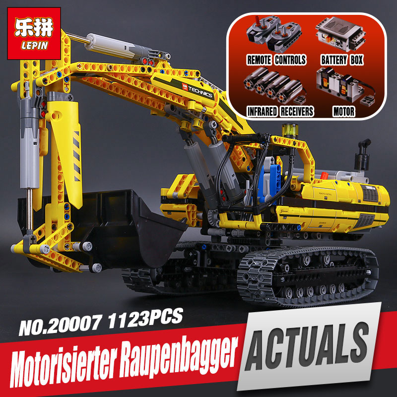 LEPIN 20007 1123pcs NEW Technic series excavator Model Educational Building Kit Blocks Brick Compatible Toy Christmas Gift 8043
