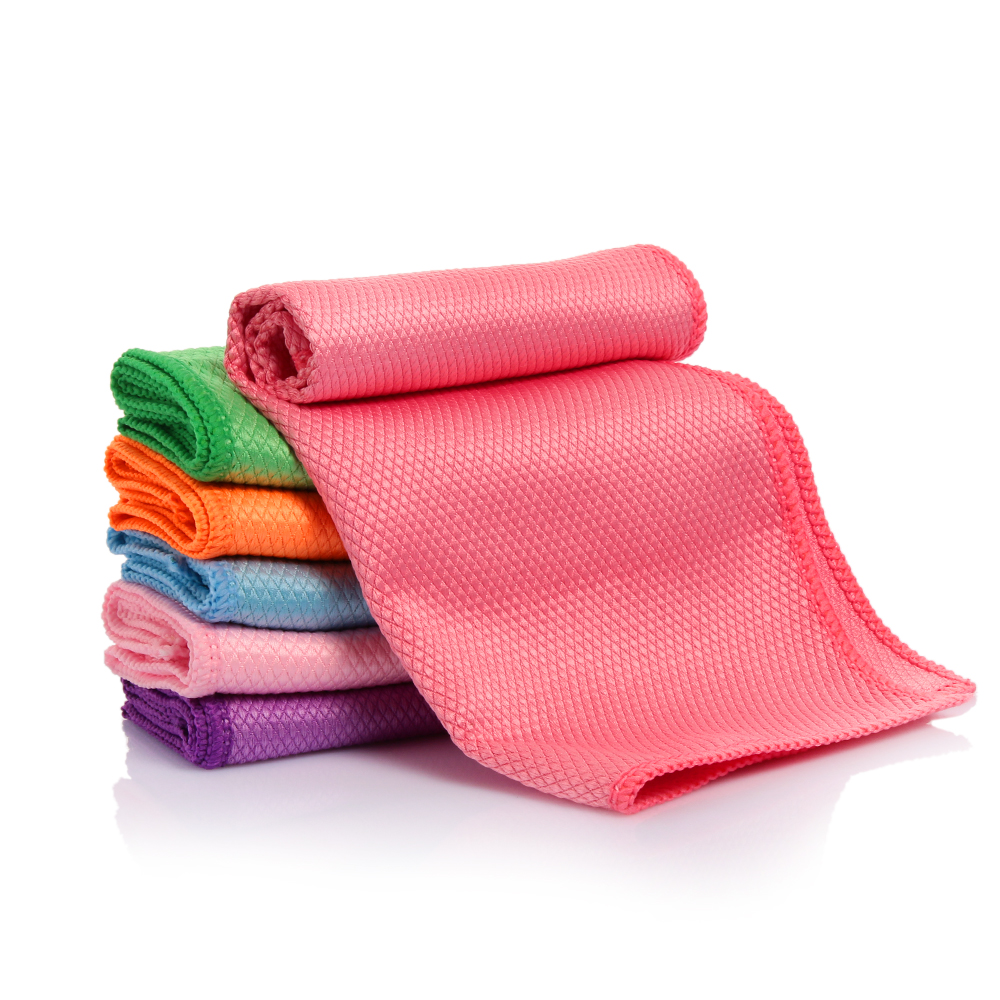 Kitchen Cleaning Wipes: Colorful Water Absorbable Glass Kitchen Cleaning Cloth