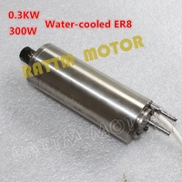 0.3KW 300W Water Cooled Spindle Motor ER8 75V 4.5A high speed 60000rpm 300W for CNC Machine