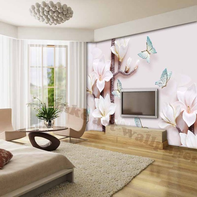 Amazing Elegant 3d Wallpapers For Living Room Waterproof TV Background Photo Wallpapers  Modern Environment Friendly Flowers Wall