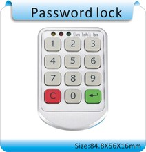 Free shipping quality Silver Metal Digital Electronic Password keypad number Cabinet Code locks