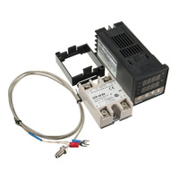 220V PID REX C100 Temperature Controller With Max 40A SSR And K Thermocouple PID Controller Set