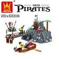 WanGe Piratas Tema de Star Wars Building Blocks Ladrillos Compatible con Legoe Modelo y los Juguetes de Construcción 30041