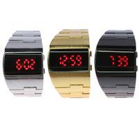 Men Alloy Wrist Digital Watch LED Digital Watches Women Business Wrist Watches With Calendar Function Relogio
