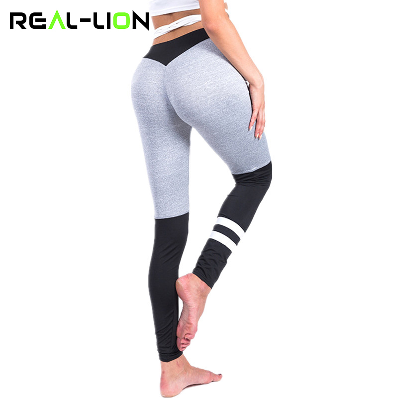RealLion Sport Leggings Women Yoga Pants Quick-drying Fitness Tights Woman Athletic Leggings Ankle-Length Trousers