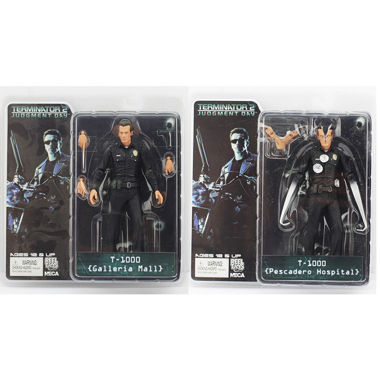 2 Styles NECA The Terminator 2 Action Figure T-1000 Galleria Mall Pescadero Hospital PVC Action Figure Collectible Toy 718cm neca batman begins bruce wayne joint movable pvc action figure collectible model toy 7 18cm