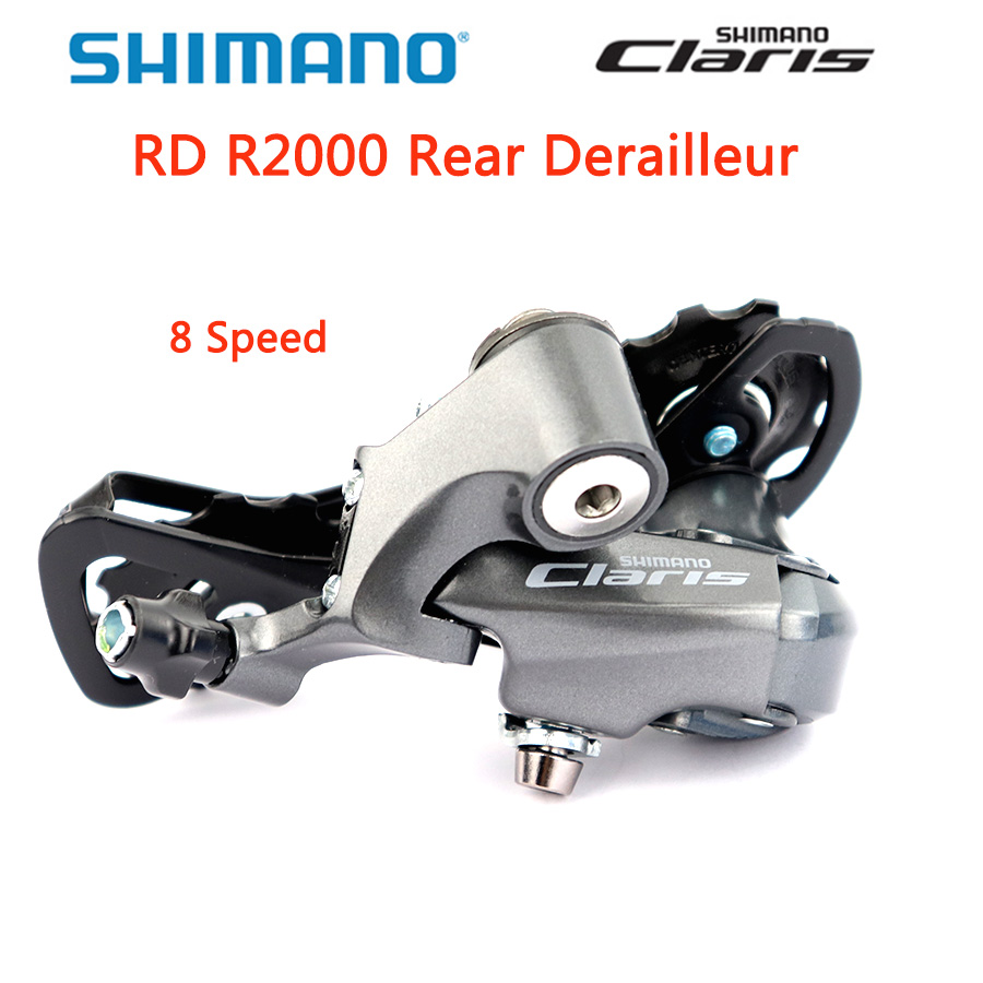 SHIMANO <font><b>CLARIS</b></font> RD-<font><b>R2000</b></font> Rear Derailleur 8S Short Cage Road Bike <font><b>R2000</b></font> SS Rear Derailleurs 8 Speed bicycle Derailleurs BOX image