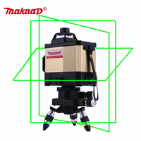 12 линий 3D лазерный уровень 360 наливные Горизонтальные и вертикальные крест лазерный nivel лазерный луч линейного уровня лазерной 12 линии Makaad