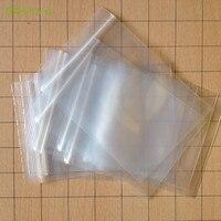 100 teile/los Kleine 19X13 cm Ziplock zip-lock poly taschen klaren plastiktüten für lebensmittel lagerung taschen dicke transparente tasche