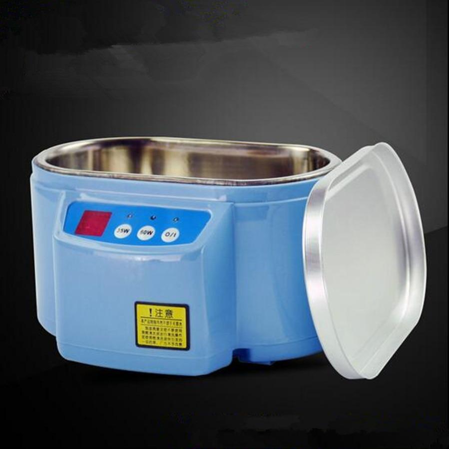 ФОТО  35W 60W 220V Mini Ultrasonic Cleaner Bath Cleanning Jewelry Watch Glasses Circuit Board limpiador ultrasonico EU
