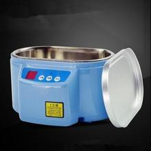 OSSIEAO Hot 35W/60W 220V Mini Ultrasonic Cleaner Bath For Cleanning Jewelry Watch Glasses Circuit Board limpiador ultrasonico EU
