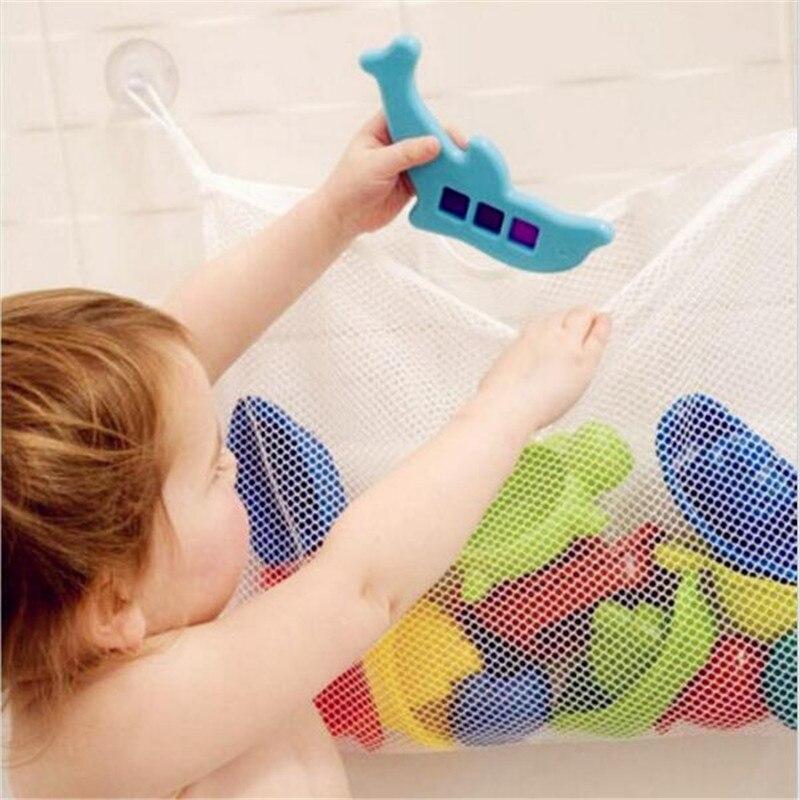 Baby Bathroom Toys Mesh Bag Organiser Net Kids Baby Bath Toys Tidy Storage Suction Cup Bag