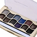 12colors/set diamond bright colorful  Makeup Eyeshadow Powder Palette Easy to Wear Cosmetic Glitter Beauty Eye shadow with brush