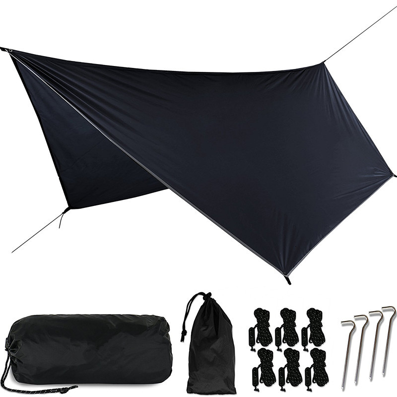 Outdoor Multifunctional Camping Awning Portable Ultralight PU Waterproof Tarp Shelter tent for hammock 3.6*2.8m велосипед lamborghini 14 синий s8sb