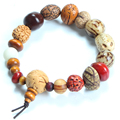 Pure Manual Weaving Natural  Mala Bracelet Buddha Charm Bangle DIY bodhi seed bracelet Men and Women Jewelry