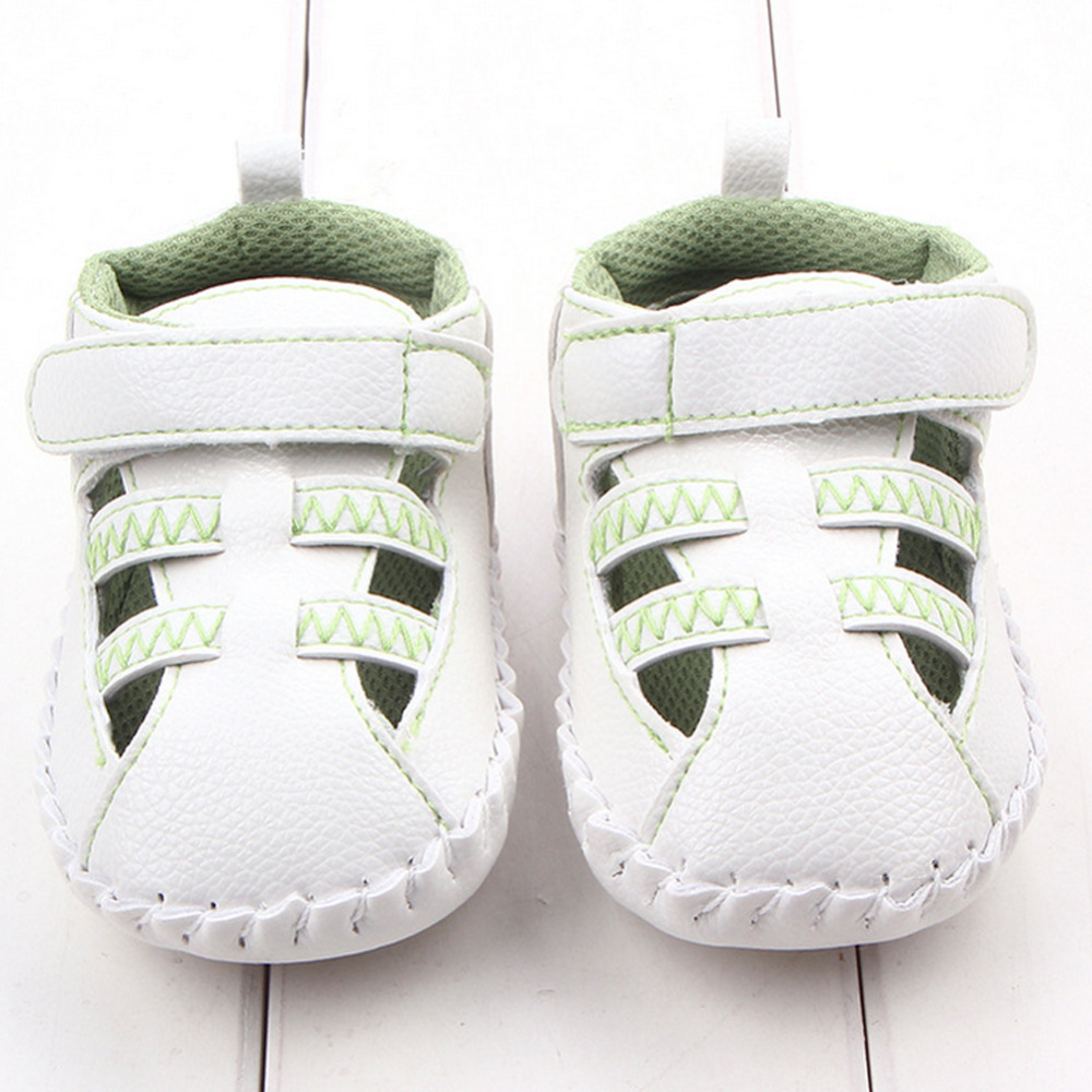 Hot Selling Breathable Infant Toddler Baby Shoes Hollow PU Girl Boy Sneaker Prewalker First Walker Crib White Y3