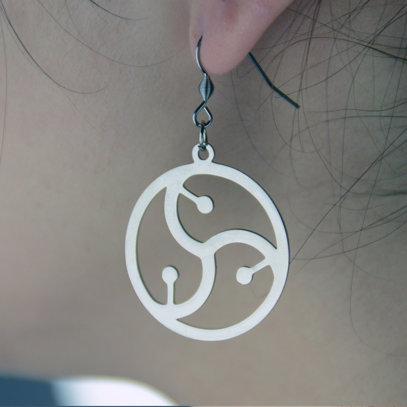 1Pair BDSM Symbol Pendant Earring Amulet Jewelry For Women By ...