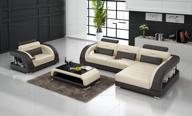 Us 1389 0 Modern Corner Sofas With L Shape Sofa Set Designs Sofas For Living Room Single Corner Sofa In Living Room Sofas From Furniture On