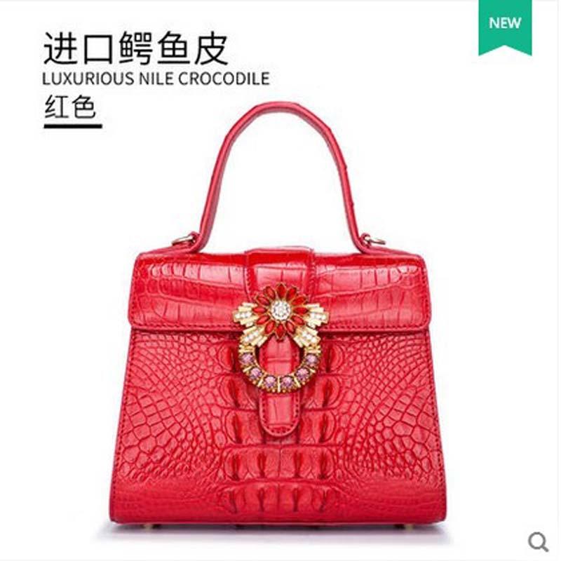 gete 2017 new crocodile leather women bag one-shoulder bag Thai leather women handbag gete 2017 new crocodile women handbag lady thai crocodile leather women handbag lady handbag women clutch bag