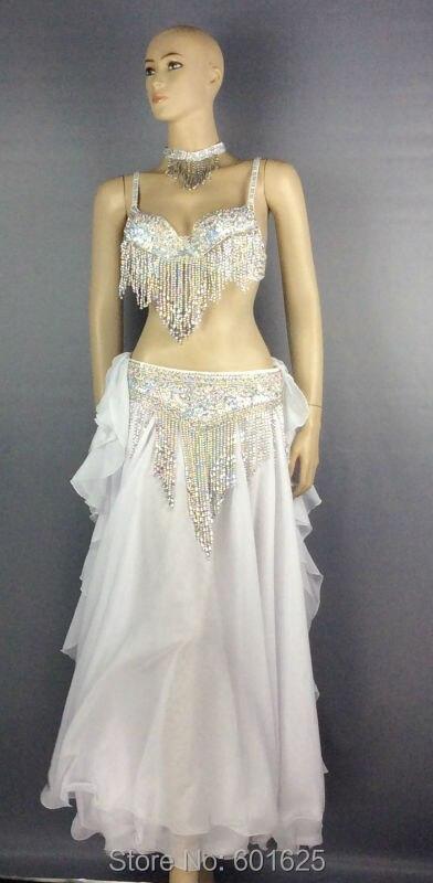 brezplačna dostava trebušnih plesov 4 kos, kostumi, zlato in - Odrska in plesna oblačila